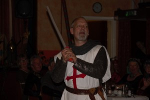 The Knights Templar prepares for battle